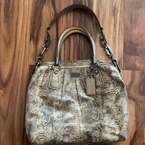 Coach Handbag with Thick Chain Shoulder Strap